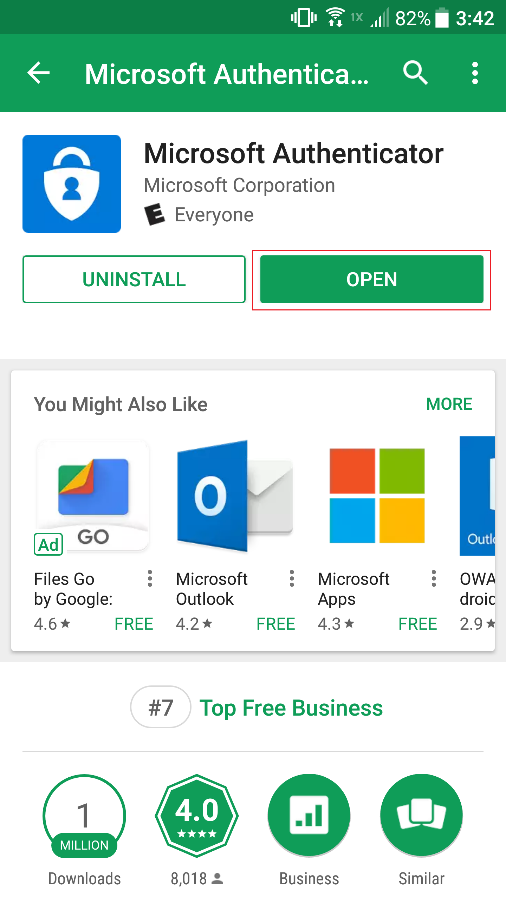 1 Microsoftgo To Www Bing Com: Microsoft Authenticator App For Android